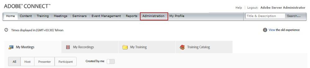 آموزش غیر فعال کردن منوی اطلاعات برای کاربران ادوب کانکت